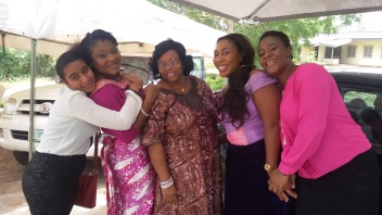 and some of her aunties plus Mum