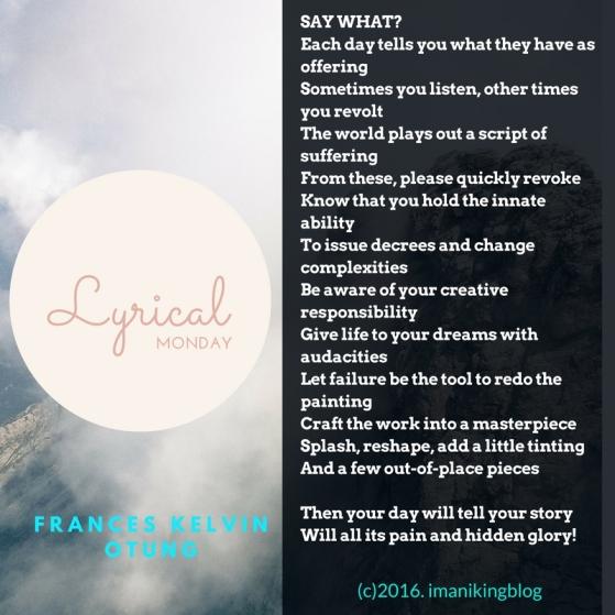 Lyrical Monday_Say What-150816